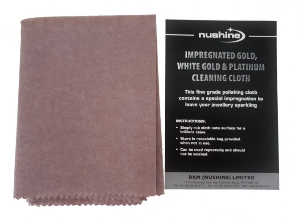 Gold, White Gold and Platinum Cleaning Cloth